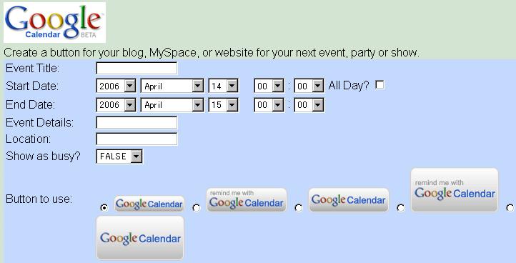 google calendarボタンクリエーター gigazine