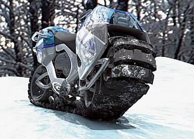 キャタピラ走行できるバイク「hyanide」 Gigazine