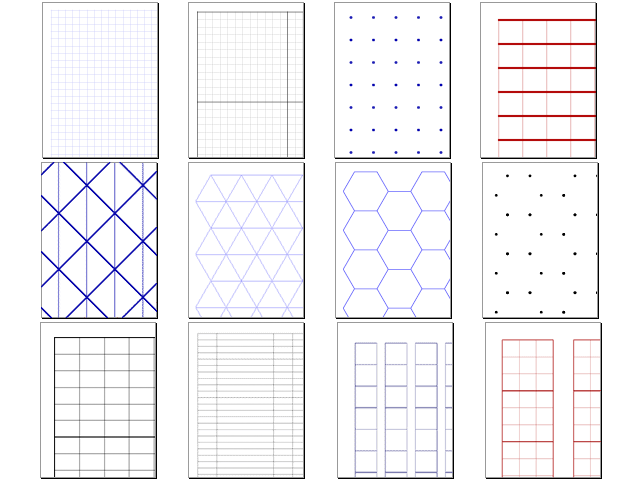 various free net service to create graph paper and grid paper gigazine