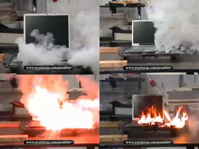 Laptop battery fire youtube neighborhood