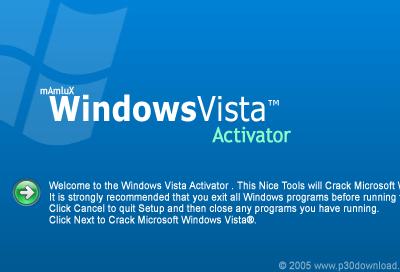 crack activation windows vista