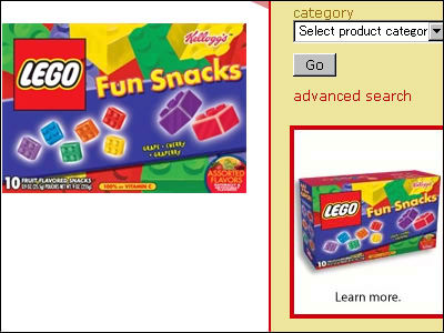 a fruit flavored snack in the form of a lego block appeared gigazine