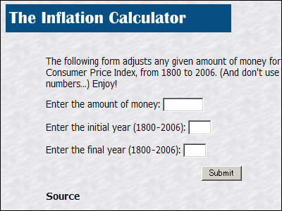 The Inflation Calculator That Can Calculate Value Of Dollars For Any Year