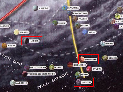 スター・ウォーズ惑星一覧