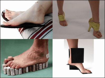 とても変わったデザインの靴の写真いろいろ