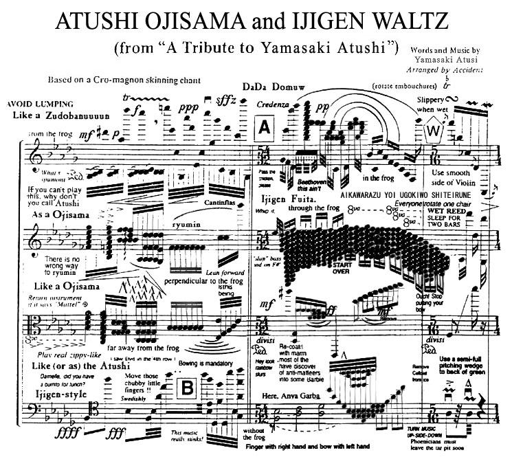 A World Map Drawn With Notes And Symbols On The Score And Oji Sama