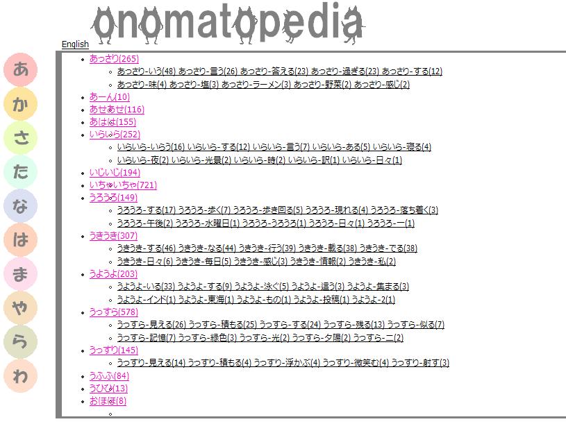 一覧 オノマトペ