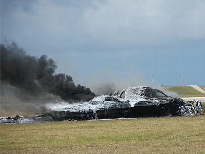 事故で大破した米軍のステルス爆撃機b 2の写真 gigazine