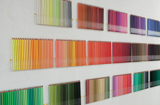 how to get colored pencil off the wall