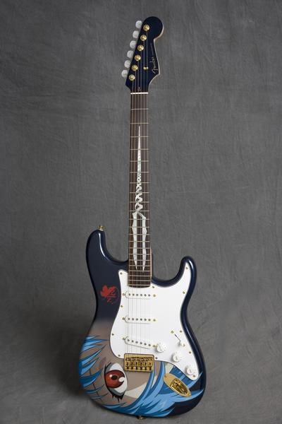 """Fender's official """"Evangelion Guitar"""" is now quoted over $90,000 on Auction - GIGAZINE"""
