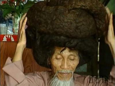 Xie Qiuping 髪の毛の長さ6.8m...