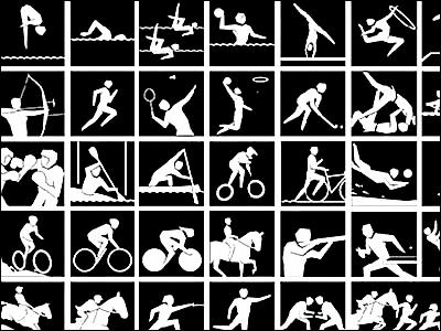 デザインの参考になる1964年から2012年までのオリンピックのピクトグラム , GIGAZINE