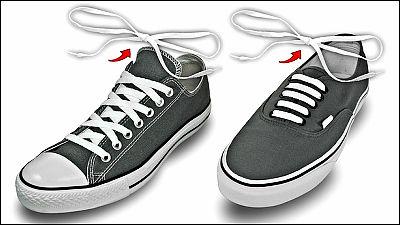 スニーカーで靴ヒモを結ぶ手間を省くちょっとした工夫「Lace Anchors 2.0」