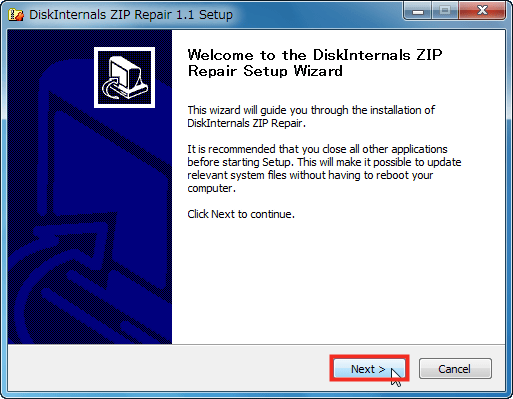Free software 'DiskInternals ZIP Repair' that can repair