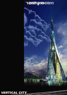 バーティカル・シティ(垂直都市)の別名を持つプロジェクトで、6棟のビルが1つの構造体を形成するデザインになっており、完成の暁にはフロア数は400、高さ2400mという