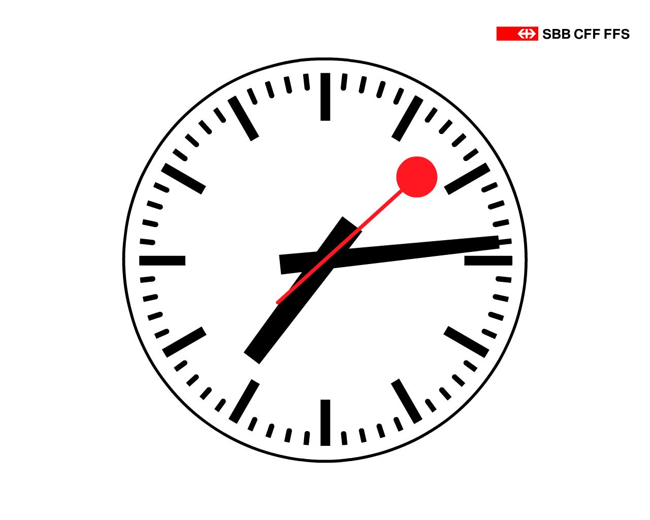 スイス国鉄公式鉄道時計スクリーンセーバー Swiss Railway Clock あの Stop To Go も再現 Gigazine