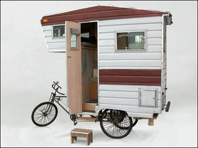 自転車一台で移動も宿泊もOK、キャンピングカーならぬ「キャンピング自転車」 GIGAZINE