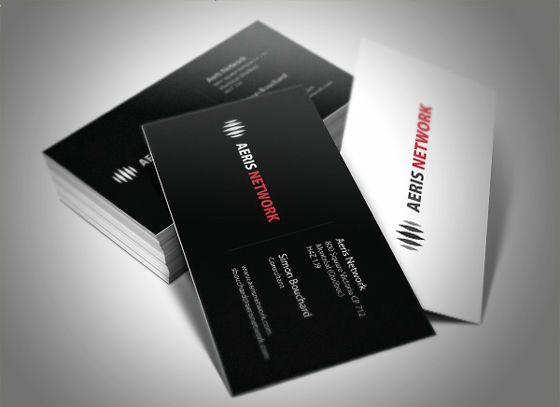Black and white monochrome tone and strong impact business card aeris network business card by simonbouchard on deviantart colourmoves