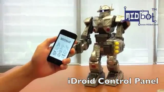 A robot that can be controlled via iPhone or iPad