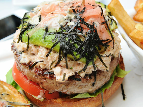 26 beach california roll burger hold the beef the rest is just so ...