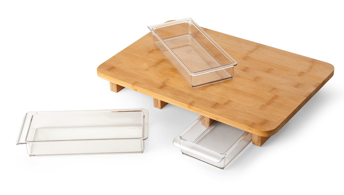 Mocubo Which Can Cook While Arranging Ingredients By Chopping Board Drawer Gigazine