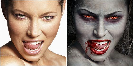 Как себе сделать глаза вампира 433