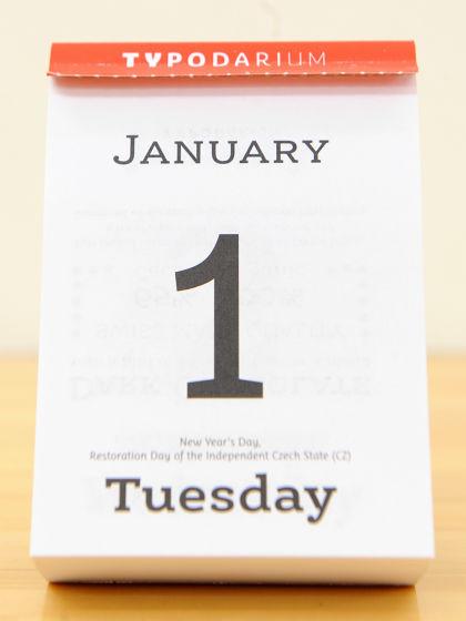 Typography Daily Calendar : Daily calendar quot typodarium to grasp sense by looking