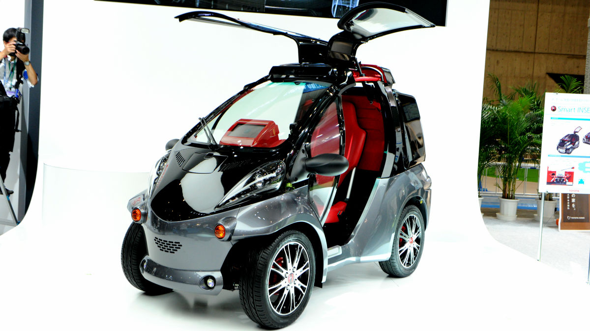 One Person Penger Electric Car Smart Insect Which Recognizes The Owner S Face Opens Door In Response To Gesture