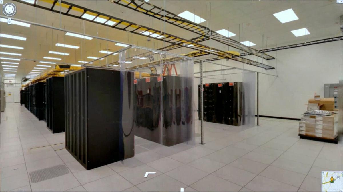 Googleのデータセンター内部をストリートビューで見られるように