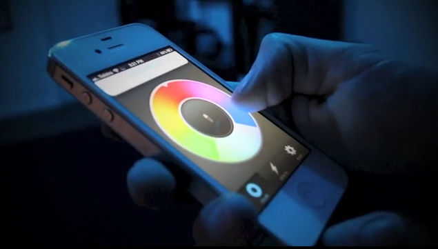 Automatic Turning On Off Of Led Light Bulb On Smartphone
