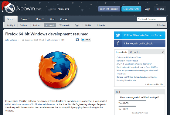 Firefox 64.0 audio video photo