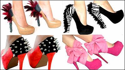 コンドームのようにヒールにつけて靴を個性的にする「HeelCondoms」