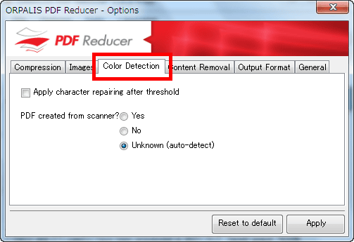 reduce size of scanned pdf
