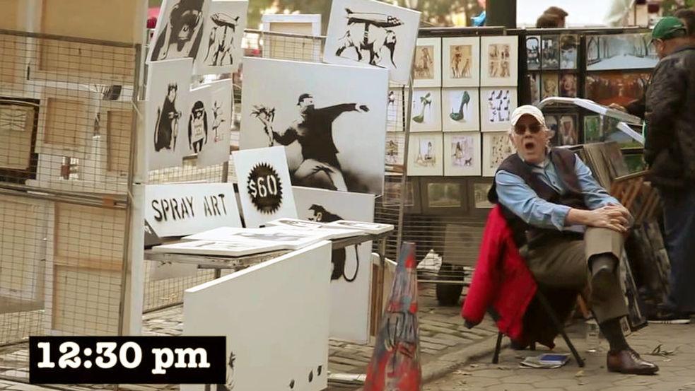 約1億円で壁画が落札される「バンクシー」の作品を1点6000円で路上販売するとどうなるのか? , GIGAZINE