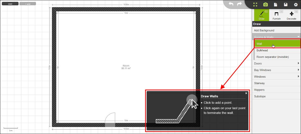 マウスで簡単に間取り図を作成しWebGLで立体化して中を動き回れ