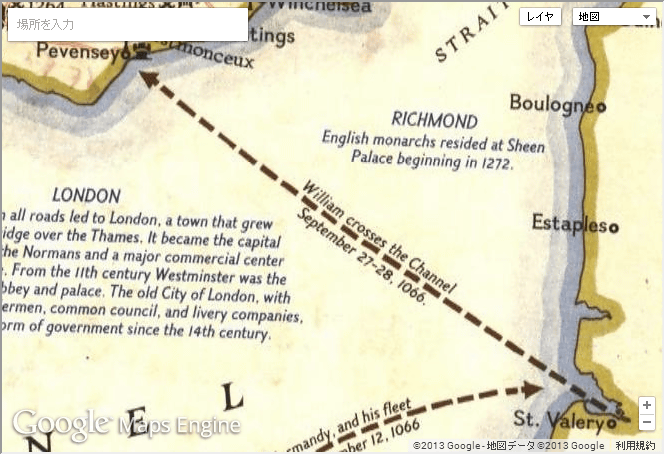 It is possible to see old map etc. of National Geographic Collection Dotted Line Google Maps on