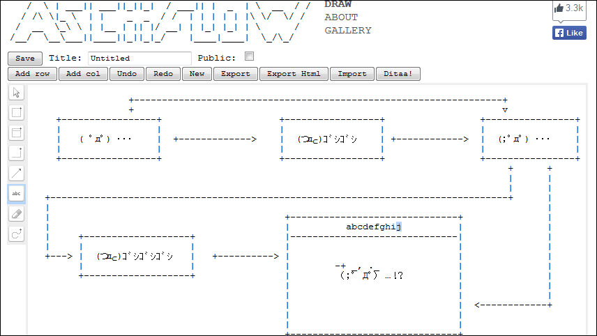 Asciiflow which can create a flow diagram with ascii art gigazine asciiflow which can create a flow diagram with ascii art ccuart Choice Image