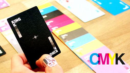 CMYKカラーモデルを使って数字の代わりに濃度で見分けるトランプ「CMYK Playing Cards」