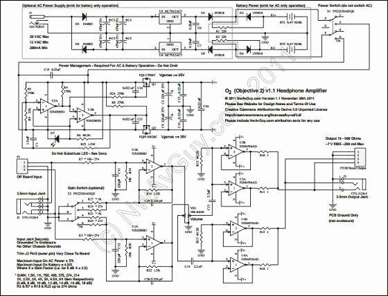 O Headphone Amp Schematic on