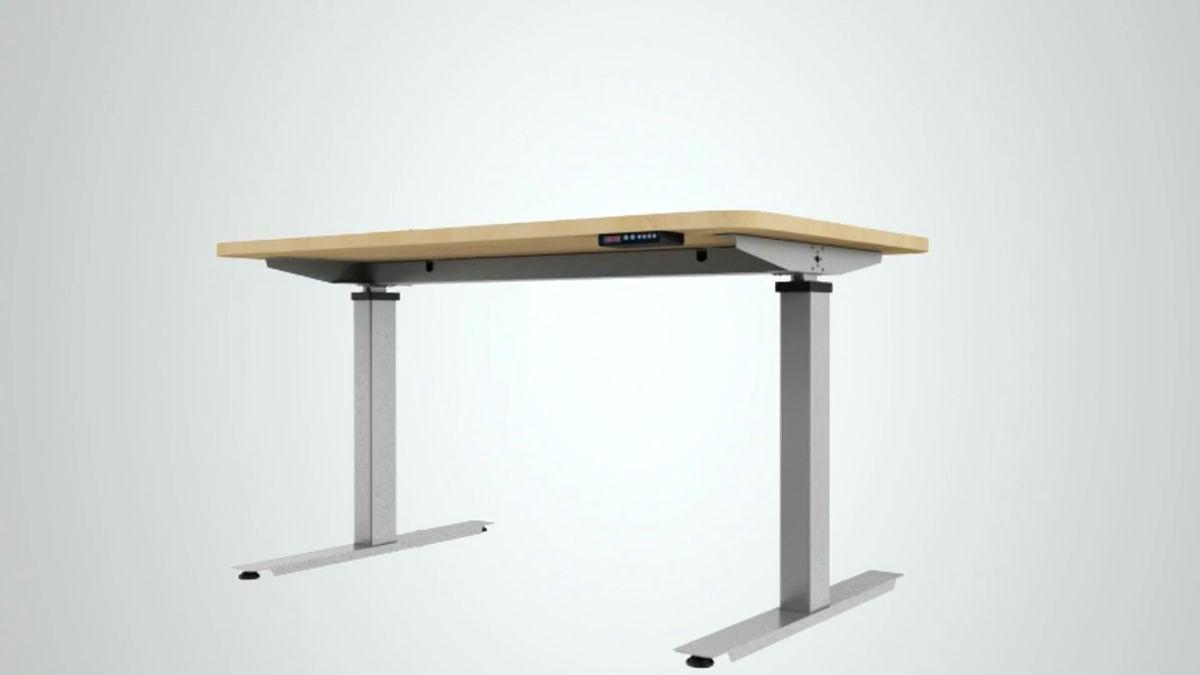 自動でいつでも高さの調節が可能で、立っても座っても使えるデスク「standdesk」 Gigazine