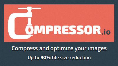 無料でJPG、PNG、GIF、SVG画像を圧縮して小さくしてくれる「Compressor」