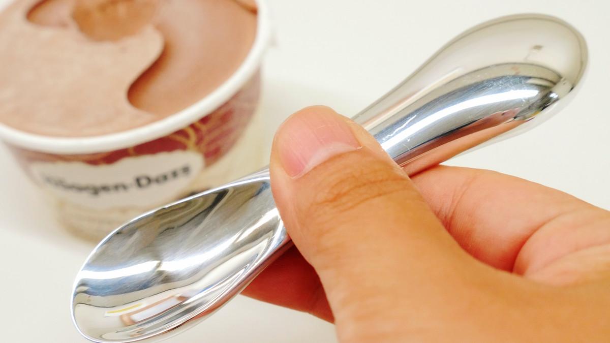 ハーゲンダッツも認めたカチカチのアイスを溶かして食べやすくする「15.0%」のスプーンを使ってみた