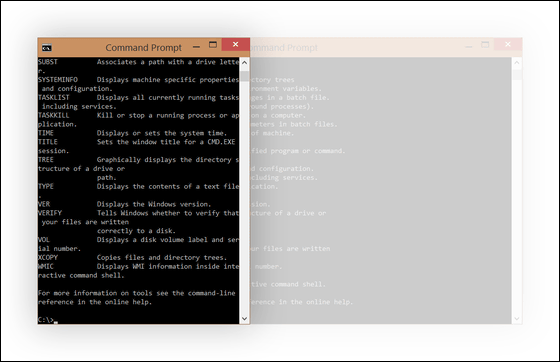 Command prompt of the Windows 10 evolved plainly and drastically