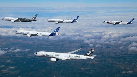 世界最新鋭の旅客機が編隊飛行す...