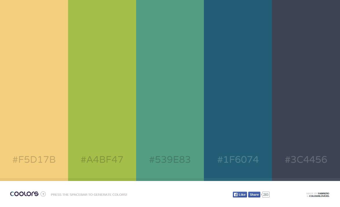 きれいに調和した色彩のカラーパレットを誰でもすぐ簡単に自動生成できる「coolors」 Gigazine