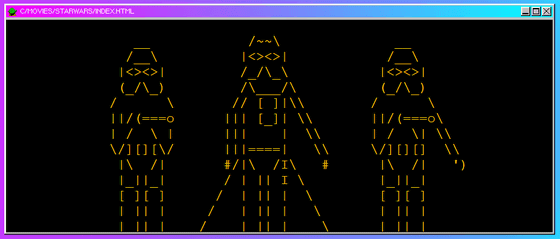 One Line Ascii Art Star Wars : A visionary os quot windows that may have existed between