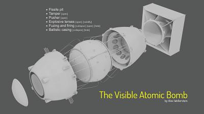 プルトニウム型原子爆弾の構造を解説する「The Visible Atomic Bomb」