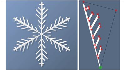 雪の結晶みたいな形を自分で自由に作れる「Paper Snowflake Maker」