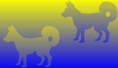 ◆06:2色のドット画以下の画像の中に何色の色が見えるでしょうか?実際には白地に緑色と赤色と3色しか使われていないとのこと。