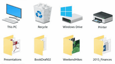 how to clean up desktop icons windows 10